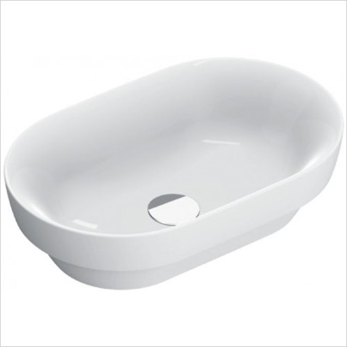Catalano - Sfera 55 Sit-On Basin NTH 55 x 35cm, Restyle Of The 155ASF00