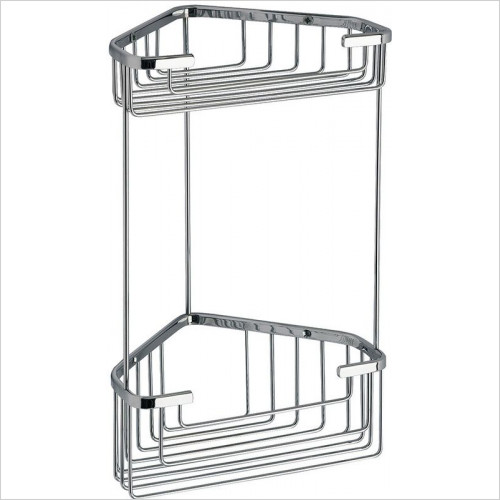 Bathroom Origins - Gedy Double Corner Deep Basket
