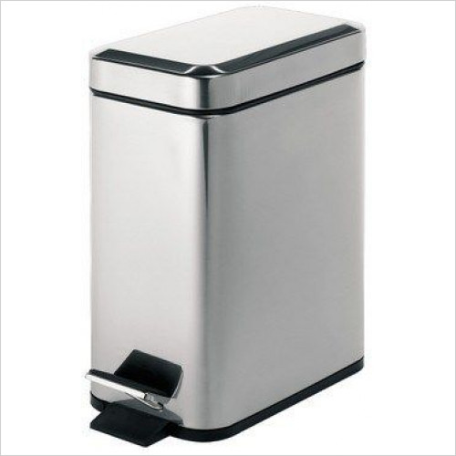Bathroom Origins - Gedy Complements Pedal Bin Rectangular