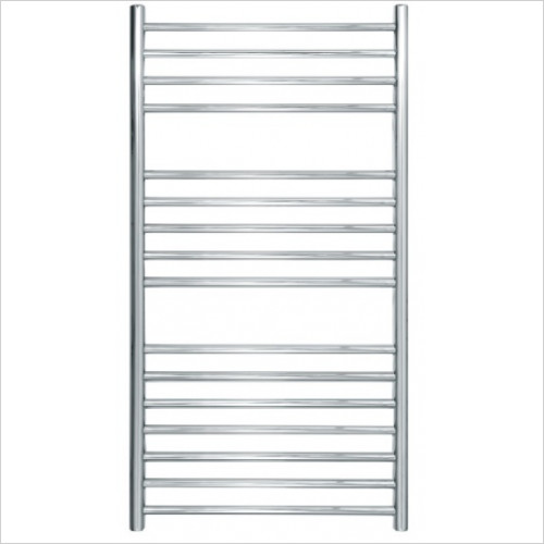 JIS Sussex - Steyning Cylindrical Electric Flat Front Towel Rail 1000x520