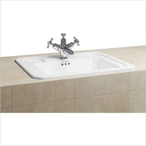 Burlington - 1H 540 Fully Inset Vanity Basin