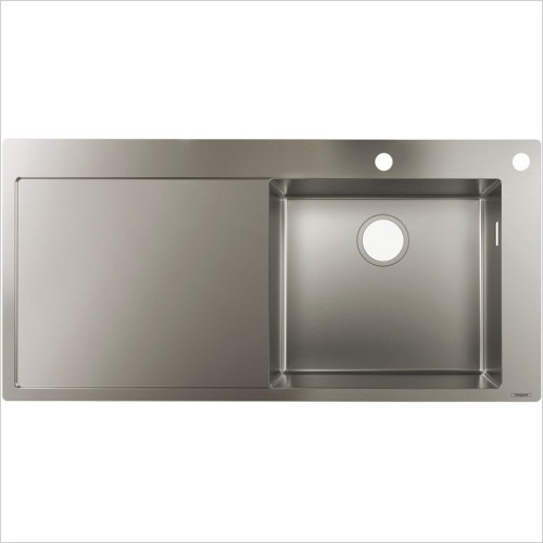 Hansgrohe - S717-F450 Built-In Sink 450 With Drainboard