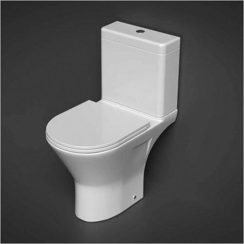 RAK Ceramics - Resort Mini Open Close Coupled Rimless Toilet WC Soft Seat