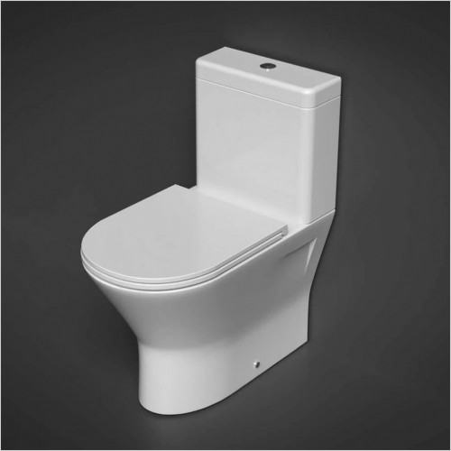 RAK Ceramics - Resort Mini Close Coupled Back To Wall Rimless Toilet WC