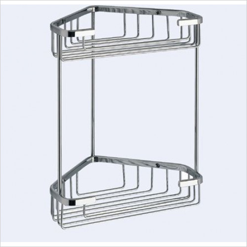 Bathroom Origins - Gedy Double Corner Basket