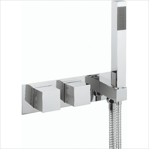 Crosswater - Water Square Thermo Shower Valve 2 Control (Landscape)