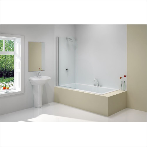 Merlyn - Bath Screen Single Curved 800 x 1500mm