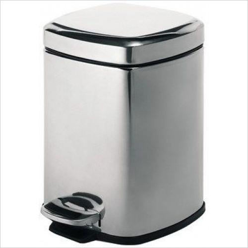Bathroom Origins - Gedy Complements Complements Pedal Bin Square 5 Litre
