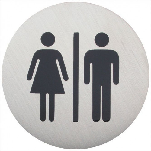 Bathroom Origins - Urban Steel Sign - Male & Female