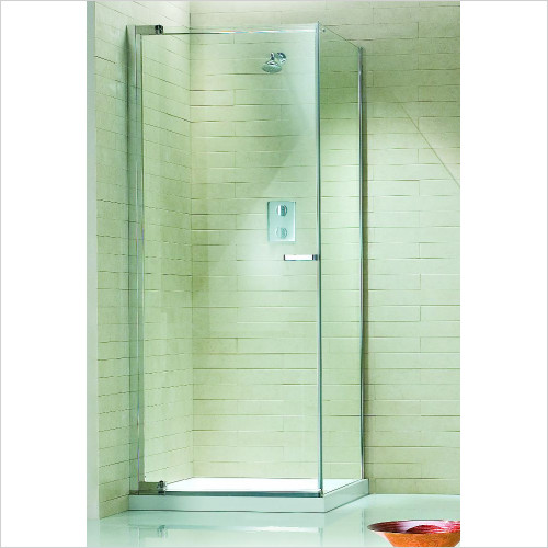 Matki - Radiance Corner Pivot Door & Side 900mm RH GG