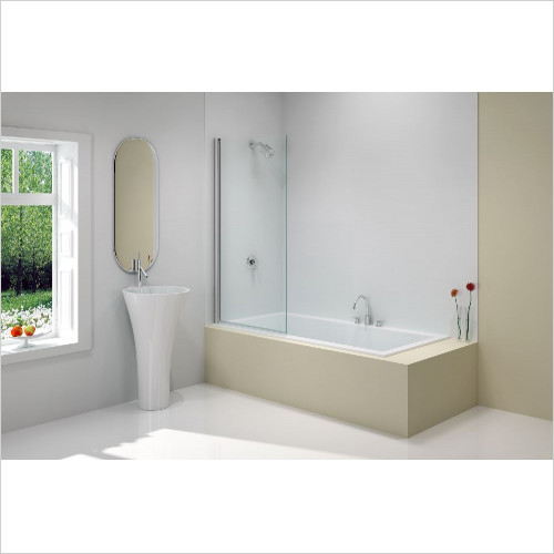 Merlyn - Bath Screen Single Square 800 x 1500mm