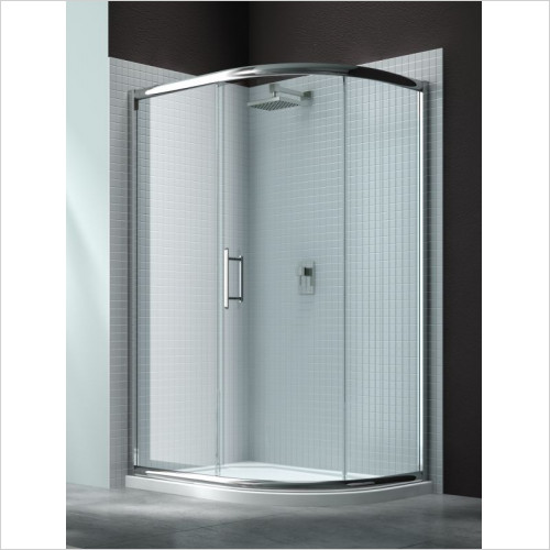 Merlyn - 6 Series 1 Door Offset Quad 1200 x 800mm Incl Tray RH