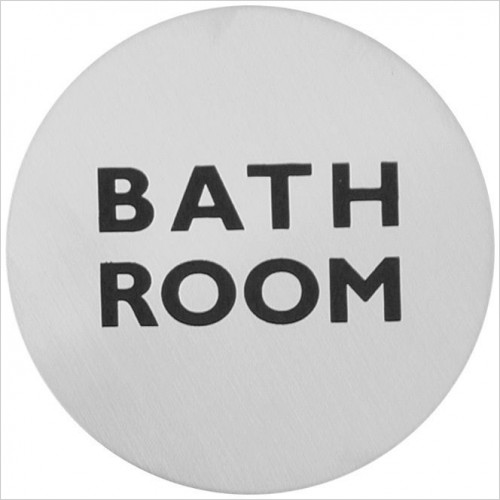 Bathroom Origins - Urban Steel Sign - Bath Room