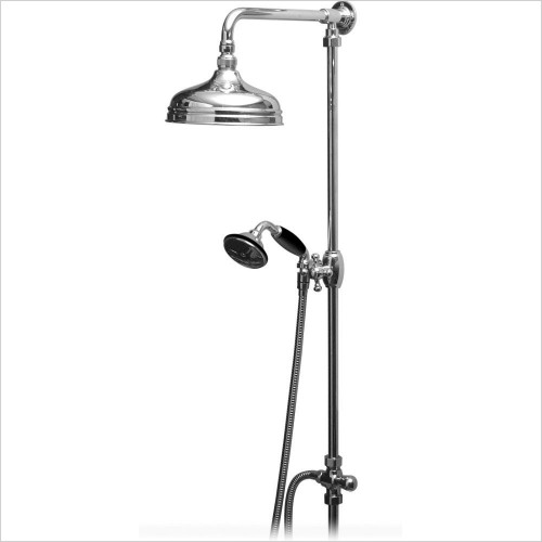 Vado - Traditional Rigid Riser Kit With 200mm (8'') Shower Head