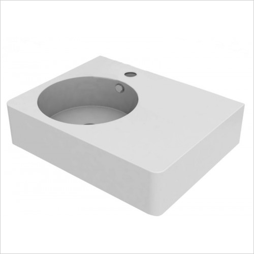 Cifial - Block Right Hand Basin 610mm 0TH