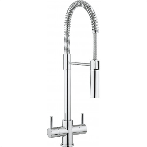 Crosswater - Cook Dual Control Kitchen Mixer With Flexi Spray