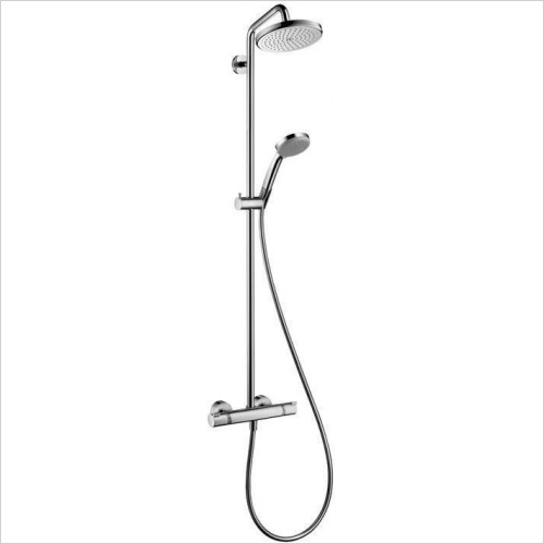 Hansgrohe - Croma 220 Showerpipe With Swivelling Shower Arm