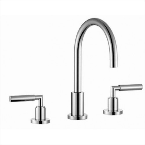 Saneux - Tempus 3 Hole Basin Mixer With Pop-Up Waste