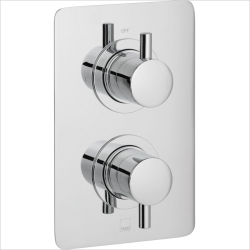 Vado - Celsius Square 1 Outlet 2 Handle Concealed Thermostatic