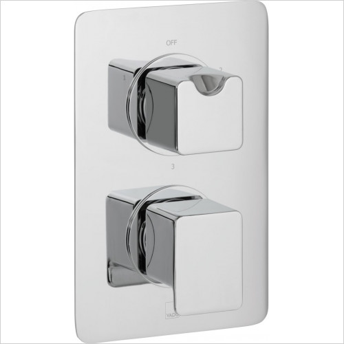 Vado - Phase 3 Outlet 2 Handle Thermostatic Shower Valve