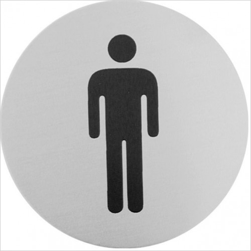 Bathroom Origins - Urban Steel Sign - Male