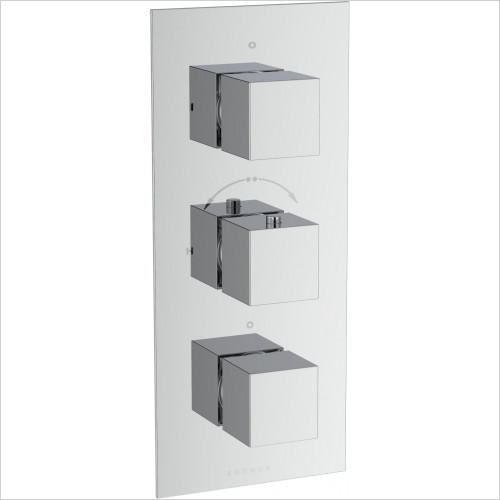 Saneux - Tooga 2-Way Thermostatic Shower Valve Low Pressure