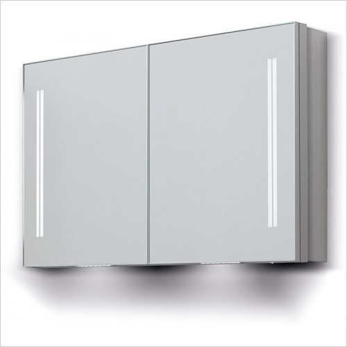 Bathroom Origins - Space II Dbl Door Semi Recessed Cabinet 120 - 1200x700mm