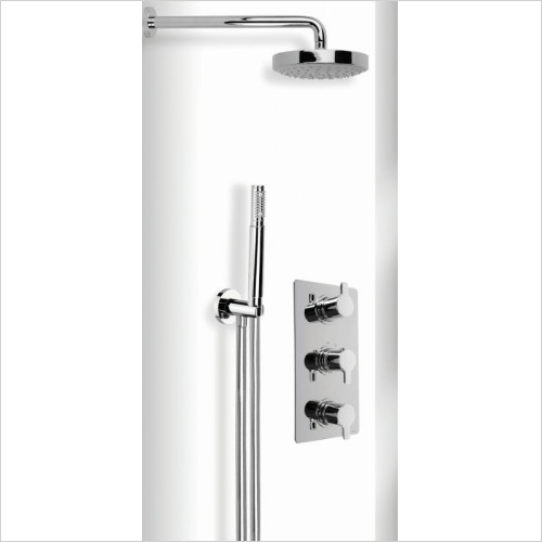 Cifial - Coule Thermo Wetroom Wall Fixed/Flexi Shower
