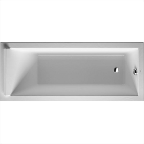 Duravit - Starck Bathtub 1600x700mm Built-In Incl Support Frame