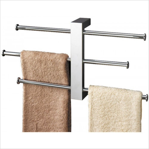 Bathroom Origins - Gedy Bridge Towel Rail Set Wall Mounted