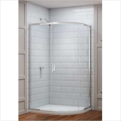 Merlyn - 8 Series 1 Door Offset Quad 1200 x 900mm Incl Tray LH