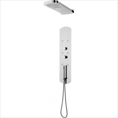 Hudson Reed - Interval Thermostatic Shower Panel & Head