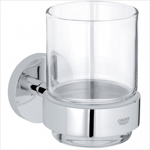 Grohe - Essentials Crystal Glass With Holder