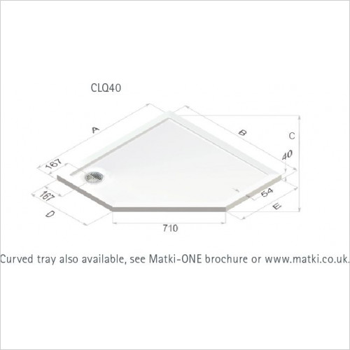 Matki - Continental 40 Pent Shower Tray 1000mm