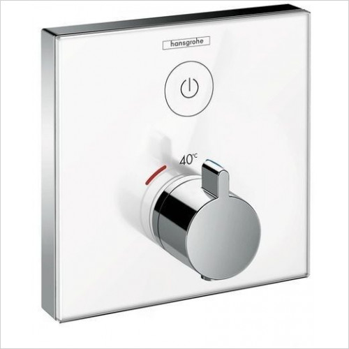 Hansgrohe - Showerselect Glass Thermostatic Mixer For Conc Installation