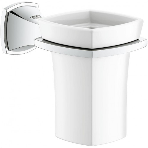 Grohe - Grandera Holder With Ceramic Tumbler
