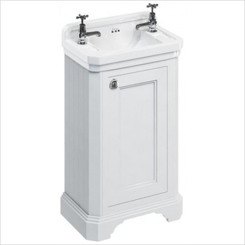 Burlington - Cloakroom Freestanding Basin Unit With Reversible Door