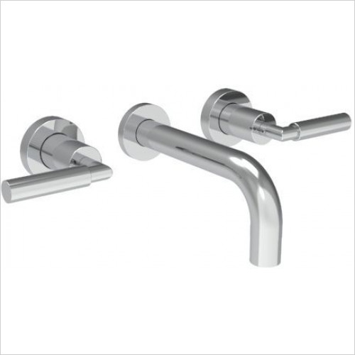 Saneux - Tempus 3 Hole Wall Mounted Basin Mixer