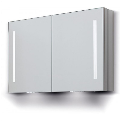 Bathroom Origins - Space II Dbl Door Semi Recessed Cabinet 90 - 900x700mm