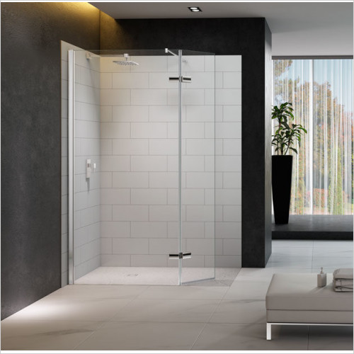 Merlyn - 8 Series Showerwall,Hinged Swivel Panel Incl Tray 1050mm