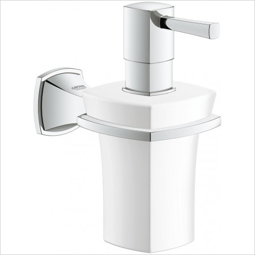 Grohe - Grandera Holder With Ceramic Soap Dispenser