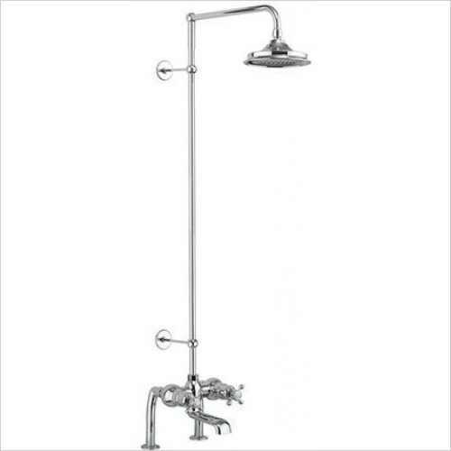 Burlington - Tay Thermo Bath Shower Mixer Deck Mounted Set