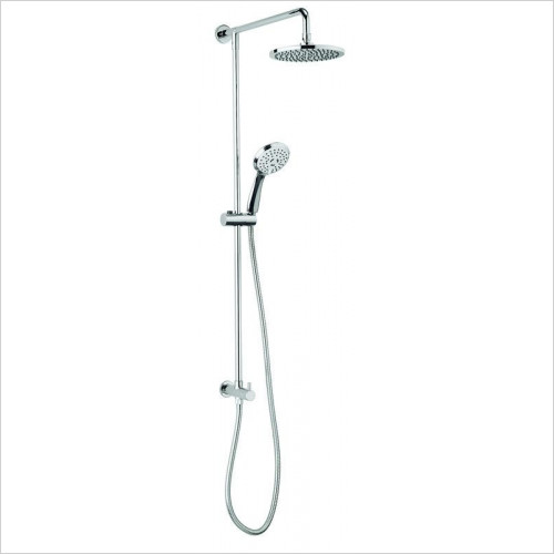 Crosswater - Fusion Diverter With Fixed Head & 3 Mode Hand Shower