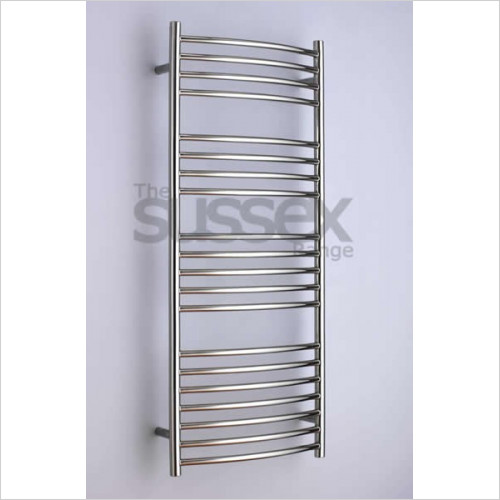 JIS Sussex - Adur Electric Curved Fronted Towel Rail 1250x520mm