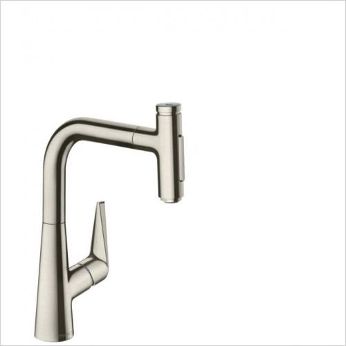 Hansgrohe - M5117-H220 - H220 Single Lever Kitchen Mixer With P-O Spray
