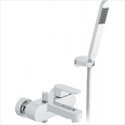 Vado - Life Exposed Bath Shower Mixer Single Lever Wall Mounted
