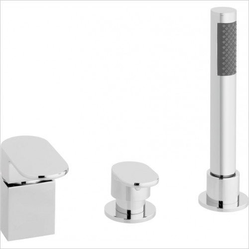 Vado - Life 3 Hole Bath Shower Mixer Single Lever Deck Mounted