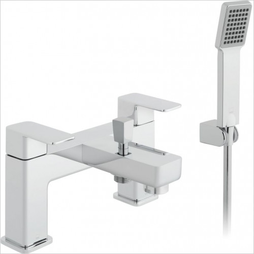 Vado - Phase 2 Hole Bath Shower Mixer Single Lever Deck Mounted