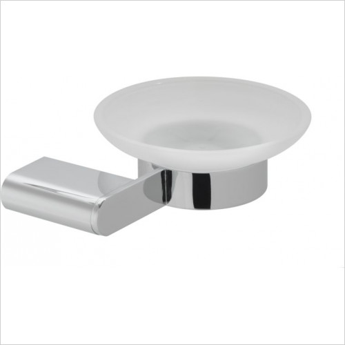 Vado - Photon Frosted Glass Soap Dish & Holder Wall Mounted
