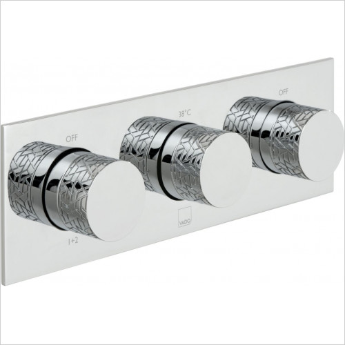 Vado - Omika 3 Outlet, 3 Handle Thermostatic Valve
